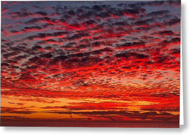 Sunset Over Saunder's Reef Greeting Card