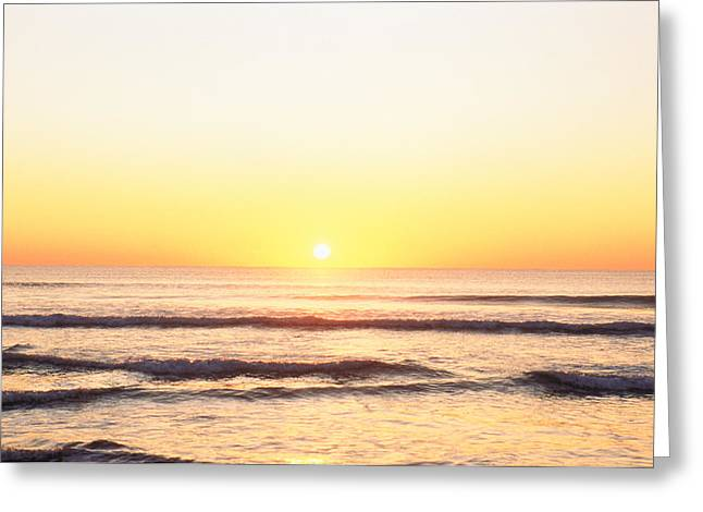 Sunset Over Sea Greeting Card