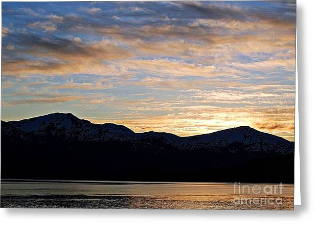 Sunset Over Skagway Ak Greeting Card