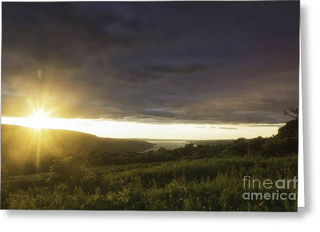 Sunset Over Skaneateles Greeting Card