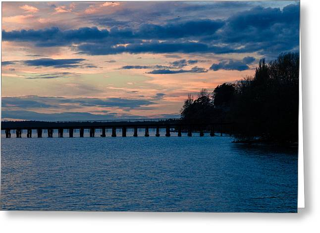 Sunset Over Squalicum Bay Greeting Card
