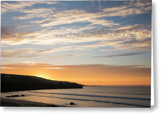 Sunset Over St Ives Greeting Card by Ashley Cooper