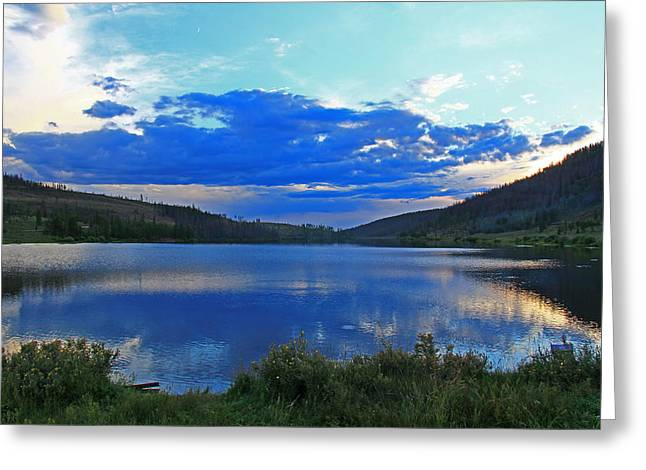 Sunset Over State Forest Greeting Card