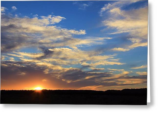 Sunset Over Texas Greeting Card by Elizabeth Budd