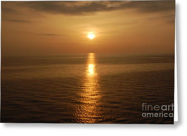 Sunset Over The Adriatic Greeting Card