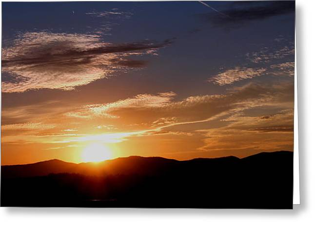 Greeting Card featuring the photograph Sunset Over The Blue Ridge by Candice Trimble