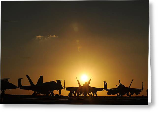 Sunset Over The Carrier Greeting Card