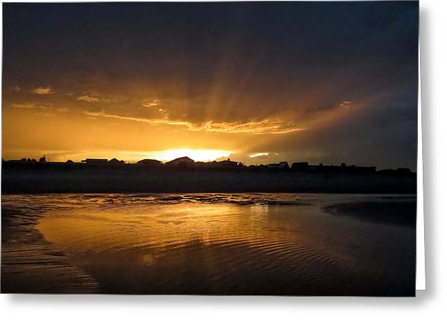 Sunset Over The City Greeting Card