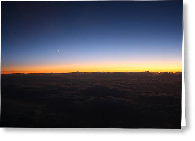 Sunset Over The Clouds Greeting Card by Sheila Savage