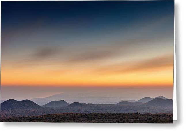 Sunset Over The Gulf Greeting Card by Alfio Finocchiaro