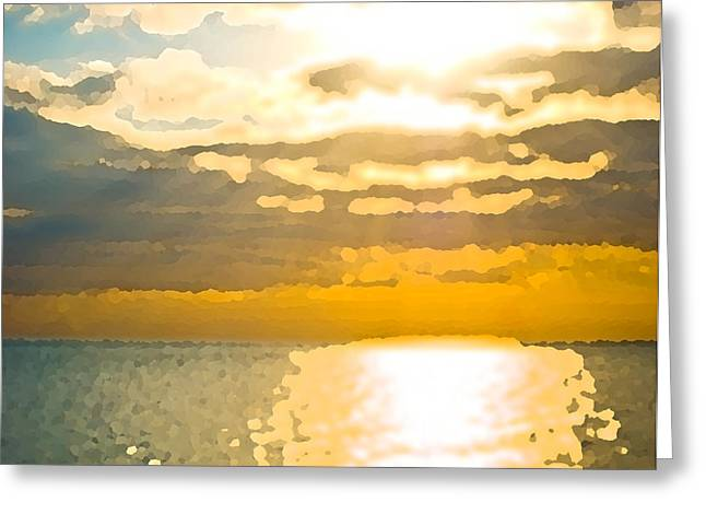 Sunset Over The Gulf Sun 92 Greeting Card