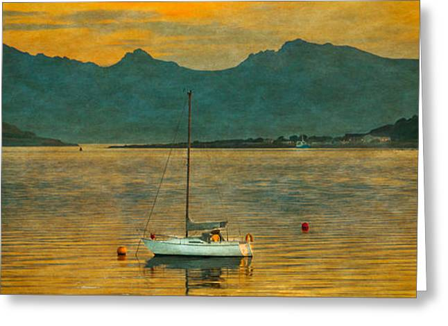 Sunset Over The Isle Of Arran Greeting Card