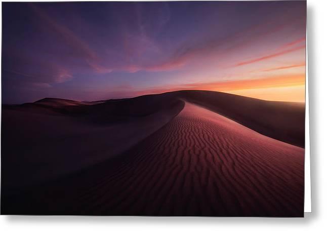 Sunset Over The Namib Desert Greeting Card by Robert Postma