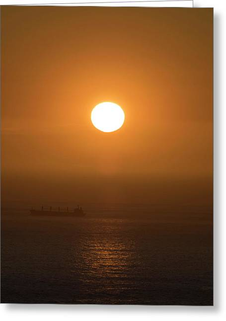 Sunset Over The Ocean, Cape Town Greeting Card by Panoramic Images