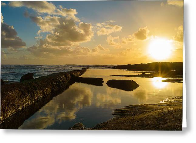 Sunset Over The Ocean II Greeting Card by Marco Oliveira