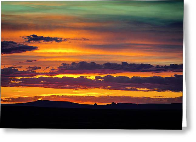 Sunset Over The Painted Desert Greeting Card