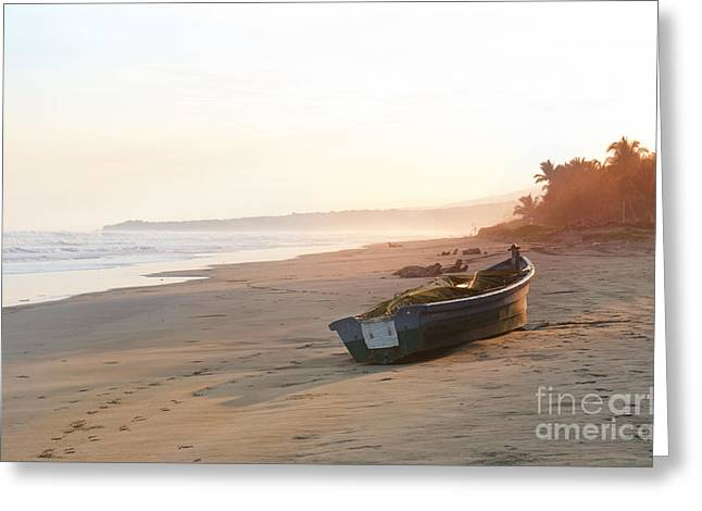 Sunset Over The Sea El Salvador Greeting Card by Design Remix