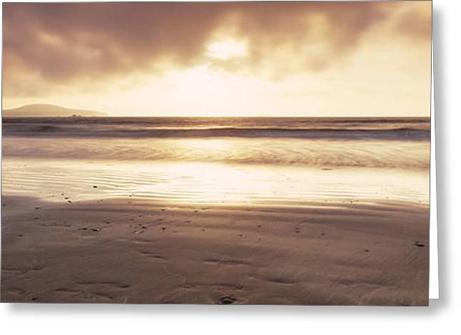 Sunset Over The Sea, Whitesand Bay Greeting Card