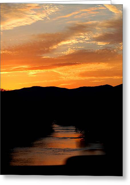 Greeting Card featuring the photograph Sunset Over The Shenandoah by Candice Trimble