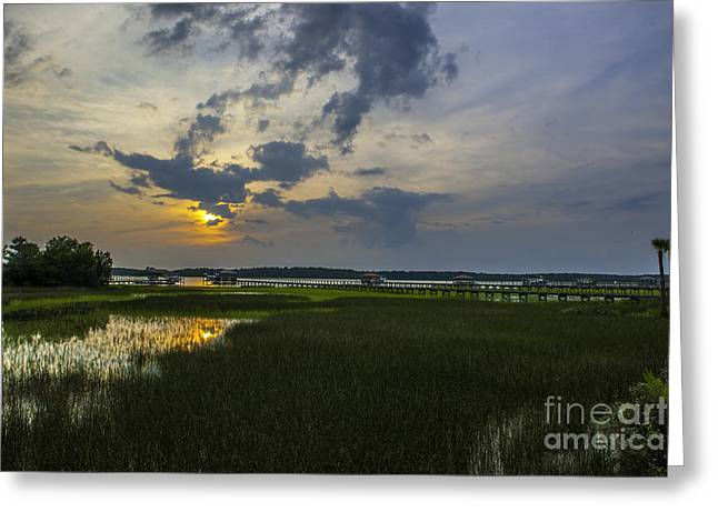Sunset Over The Wando Greeting Card