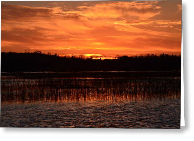 Greeting Card featuring the photograph Sunset Over Tiny Marsh by David Porteus