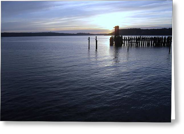 Sunset Over Titlow Greeting Card