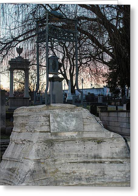 Sunset Over Tombstone Greeting Card by Robert Hebert