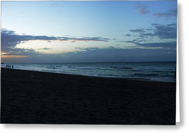 Sunset Over Varadero Beach, Varadero Greeting Card by Panoramic Images