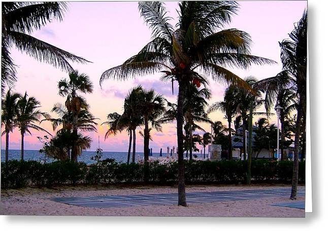 Sunset Over Waikiki Greeting Card