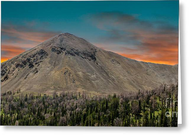 Sunset Over White Knob Mountain Greeting Card by Robert Bales