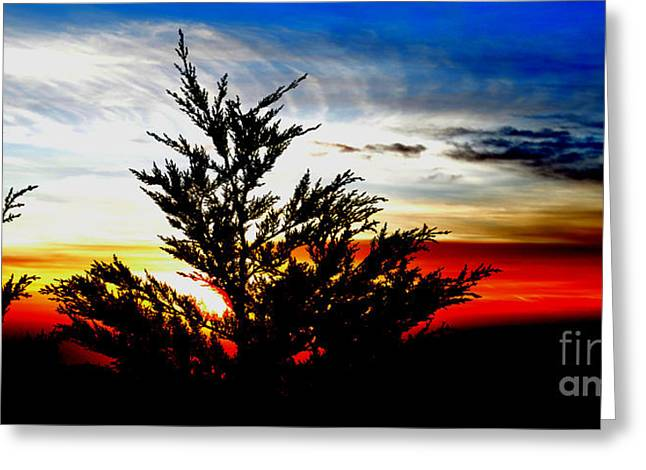 Sunset Overlooking Pacifica Ca V Greeting Card by Jim Fitzpatrick