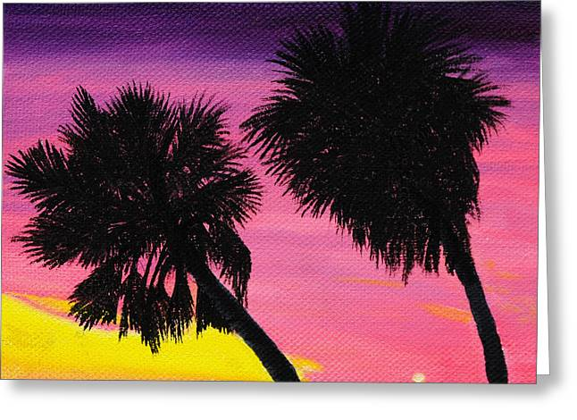 Sunset Palms At Fort Desoto Greeting Card by Jane Axman