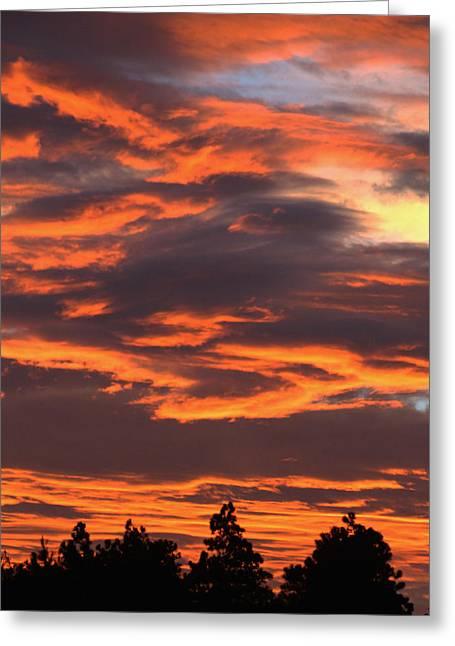 Sunset Greeting Card by Pamela Walton