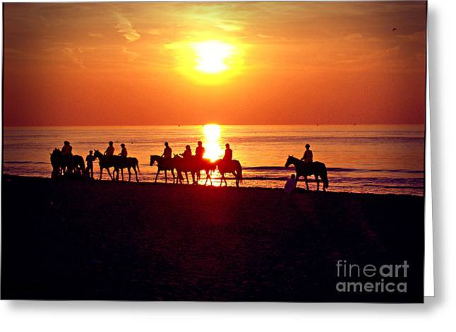 Sunset Past Time Greeting Card