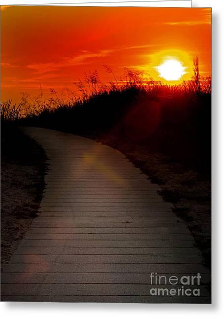Sunset Path Greeting Card