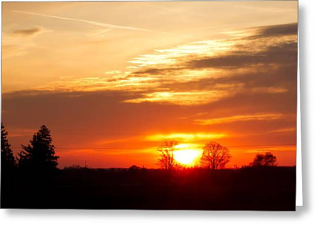 Sunset  Greeting Card by Paulina Szajek