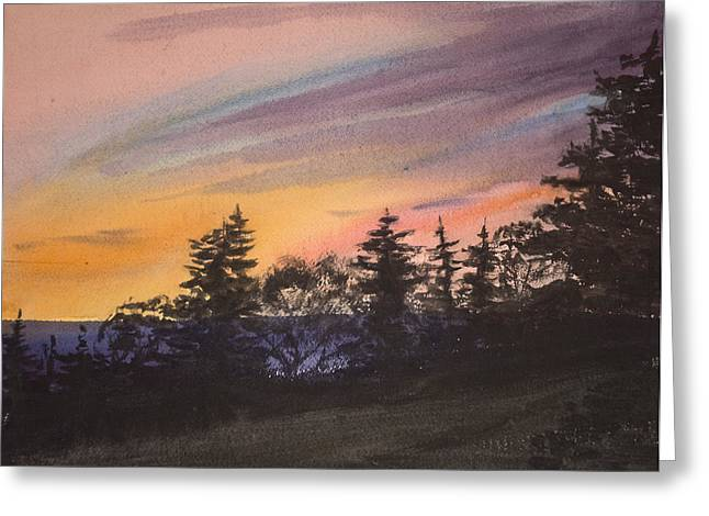 Sunset Greeting Card by Peggy Poppe