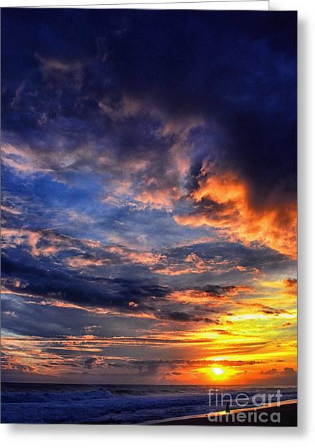 Sunset Photo Shoot Banzai Beach  Greeting Card by Thomas R Fletcher