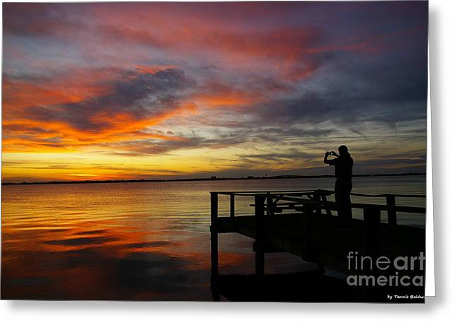 Greeting Card featuring the photograph Sunset Photographer by Tannis  Baldwin