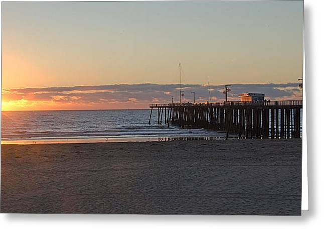 Sunset Pismo Beach Pier Greeting Card