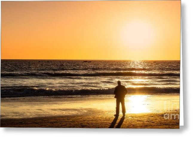 Sunset Pondering Greeting Card