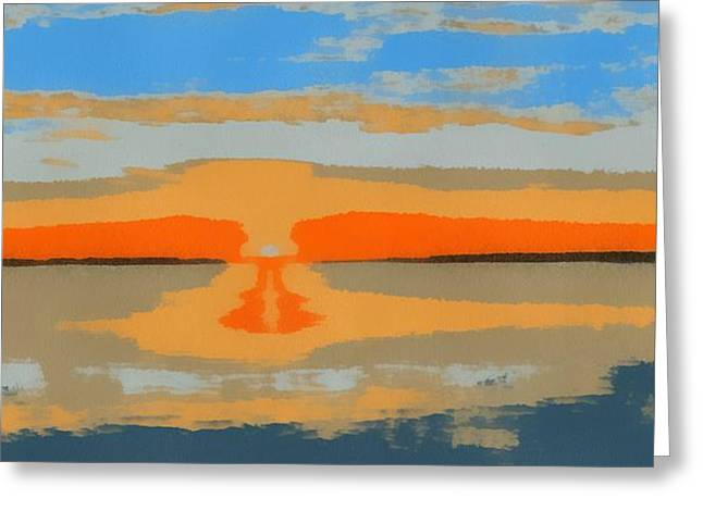 Sunset Pop Art Greeting Card by Dan Sproul