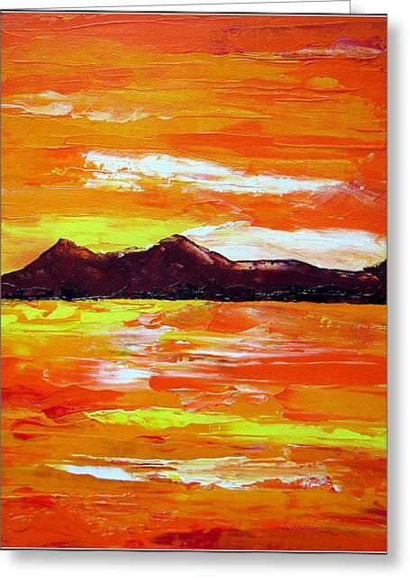Sunset Greeting Card by Prajakta P