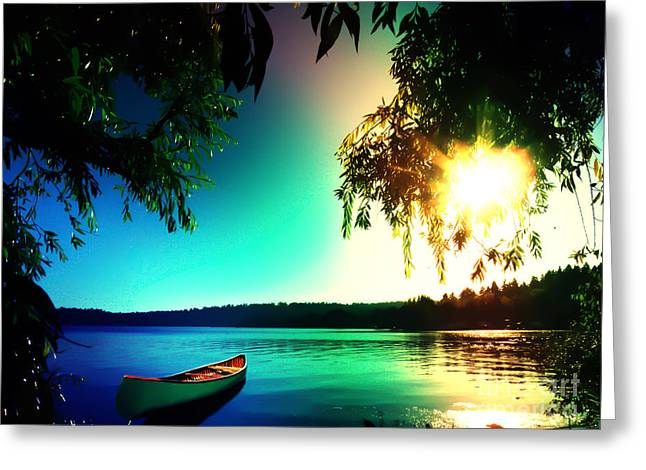 Greeting Card featuring the photograph Sunset Rainbow At Kenmore Washington by Eddie Eastwood