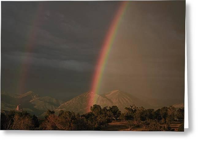 Sunset Rainbow Left Greeting Card
