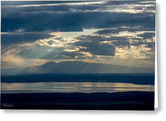 Sunset Rays Over Mount Susitna Greeting Card