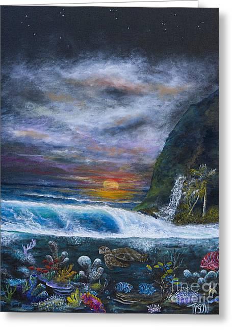 Sunset Reef Greeting Card by John Garland  Tyson