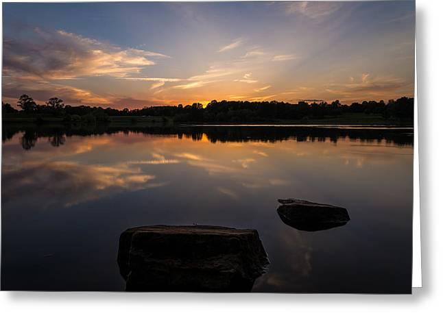 Sunset Reflecting Greeting Card