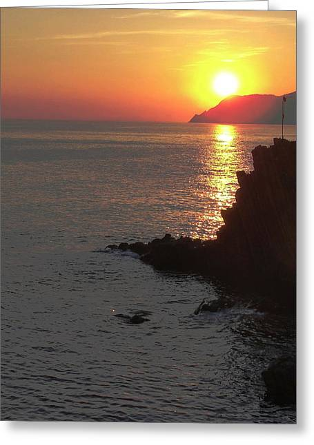 Greeting Card featuring the photograph Sunset Reflection by Natalie Ortiz
