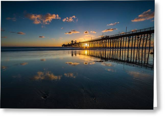 Sunset Reflections Greeting Card by Larry Marshall